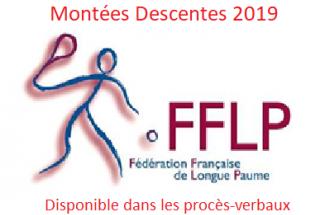 MONTÉES/DESCENTES 2019